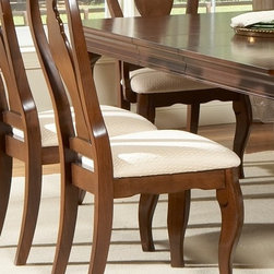 Liberty Furniture - Louis Philippe Side Chair - Set of 2 - Set of 2. Slat back. Nylon glides. Warranty: One year. Made from hardwoods, poplar solids and cherry veneers. Cherry finish. Made in Malaysia. 22 in. W x 23 in. D x 43 in. H (23 lbs.)