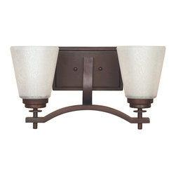 "Designers Fountain - Tuscana with Ivory Pearl Glass 2 Light Bath Wall Fixture - Width: 16"""