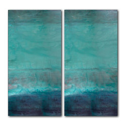 READY2HANGART.COM - Ready2hangart Alexis Bueno Oversized Abstract 2-PC Canvas Wall Art - This over sized abstract canvas art set is the perfect addition to any contemporary space. It is fully finished, arriving ready to hang on the wall of your choice.