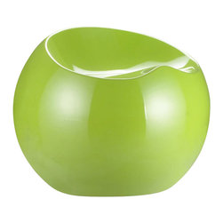 ZUO - Zuo Drop Stool in Green - It's an Ab Fab-ish millennial twist on the beanbag chair. These ball-like stools are fun, colorful and comfortable. Made of ABS plastic, they come in green, red, white and black.