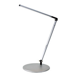 Koncept - Z-Bar Solo LED Desk Lamp, Warm Light Led Silver - The Z-Bar collection broke the mold for desk and floor lamp design and introduced the world to Koncept's contemporary stylings. Our designers tossed away the bulb-and-shade for a flexible, streamlined design that contained LEDs and three simple bars. Add intuitive on/off functionality with a dimming option and the rest, as they say, is history. With several sizes to choose from, there's a Z-Bar for every need.