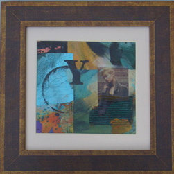"""Why Not? (Original) by Jane Mcelvany-Coonce - """"Why Not?"""" is a collage piece.  It has acrylic paint with some photo transfers."""