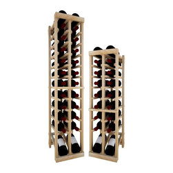 Wine Cellar Innovations - 2 Col Indv Top Stack w/Display; Vintner: Rustic Pine, Unstained, 4 Ft - Each wine bottle stored on this two column individual bottle wine rack is cradled on customized rails that are carefully manufactured with beveled ends and rounded edges to ensure wine labels will not tear when the bottles are removed. This wine rack also has a built in display row. moved. This wine rack also has a built in display row. Purchase two to stack on top of each other to maximize the height of your wine storage. Moldings and platforms sold separately. Assembly required.