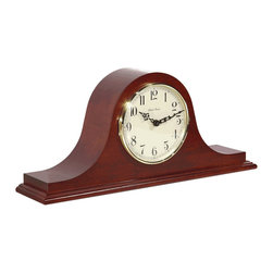 HERMLE - Hermle Sweet Briar Tambour Mantel Clock With Quartz Movement and Cherry Finish - Tradititonally styled tambour clock in a classic cherry finish
