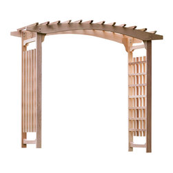 All Things Cedar - All Things Cedar PA106U Pagoda Wedding Arbor - Large Pagoda Wedding Arbor- made for weddings, anniversaries and other grande outdoor functions    Dimensions:   94 x 47 x 87 in. outside dim. (w x d x h)