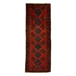 eSaleRugs - 3' 6 x 9' 3 Koliaei Persian Runner Rug - SKU: 110892573 - Hand Knotted Koliaei rug. Made of 100% Wool. 30-35 Years.