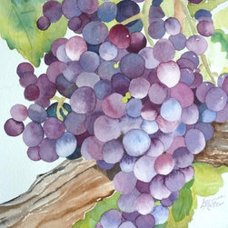 A Glass of Red, Original Watercolor - There is so much to love about watercolor.  All of the shades and no color at all, with endless possibilities, even with only one image, we could explore it in infinite ways.
