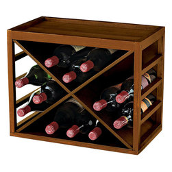 Wine Enthusiast - Wine Enthusiast 12-Bottle X Cube-Stackable Hardwood Wine Rack - -Stack racks high and save on space, easily adjust the size and configuration of a wine collection