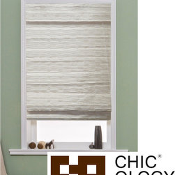 Unknown - Chicology Charming Nicole Creme Roman Shades - These Roman shades offer some of our finest fabrics for you in our pre cut size roman shades. All of our pre cut roman shades are child safety compliant,and also offer a built in valance for that complete look.