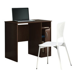 South Shore - South Shore Axess Small Desk in Chocolate - South Shore - Computer Desks - 7259075 - Need to tidy up your home office? This Axess collection small desk is perfect for all your storage needs, even in tight spaces! Its compact design includes all the space you need for a well-organized workspace thanks to its storage spaces.