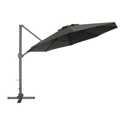 Abba Patio - Abba Patio 11Ft Cantilever Patio Umbrella with Base , 360 Rotating Device, Verti - Abba Patio® 11 Feet Offset Cantilever Umbrella