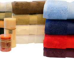 "Bed Linens - Egyptian Cotton 900GSM 2pc Bath Towel Set Forest Green - Towel Set Includes:    Two Bath Towels - 30""x55"" each"