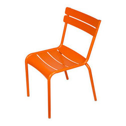 Array Luxembourg Side Chair, Carrot - This chair is perfect for outdoors or for a playroom. Pair a couple of them in different colors for a vibrant result.