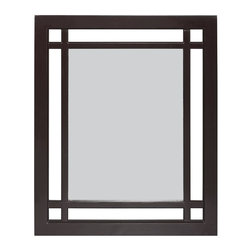 Elegant Home Fashions - Neal Mirror - The Neal Wall Mirror from Elegant Home Fashions offers sleek lines for a modern look.   This mirror is made of MDF and accented with grid-work design. This mirror comes with assembly hardware.