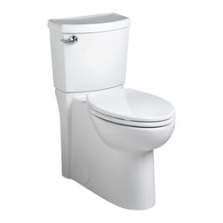 American Standard - Flowise Cadet 3 Concealed Trapway Elongated Two-Piece Toilet in White - American Standard 2989.101.020 Flowise Cadet 3 Concealed Trapway Elongated Two-Piece Toilet in White.