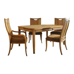 American Drew - American Drew Antigua Rectangular Casual Dining Set in Toasted Almond - American Drew-Dining Sets-931760636PKG