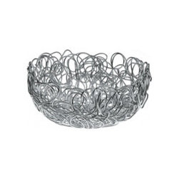 Alessi Nuvem Round Wire Basket - I love the loose, scribbly look of this wire basket, with its playful relaxed vibe. Great for displaying fruit on a modern table.