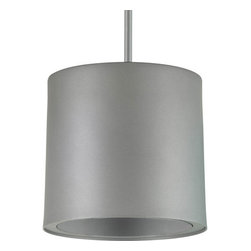 """Progress Lighting - Progress Lighting P6008 Aluminum Cylinder Single Light Down Light Stem-Hung Pend - The P6000 Series LED cylinders are nominal 6"""" cylinders designed to be used with the P8071 series trims. Available in surface, wall, pendant, or cord mount, they provide a cost effective option for LED surface lighting. It is suitable for a wide variety of commercial, retail and institutional applications.Features:"""