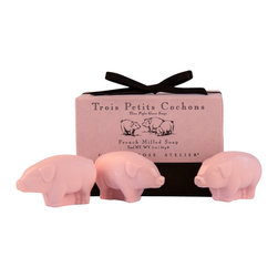 Gianna Rose - Trois Petits Cochons Soap - One, two and three little piglets! Our Trois Petits Cochons Soap is fresh linen scented and ready to wee wee wee all the home to you!