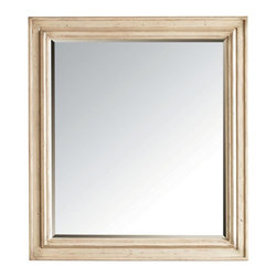Stanley Furniture - European Cottage-Landscape Mirror - Subtle beveling is all that the Landscape Mirror needs to showcase its lovely form. The straightforward design is elevated by the handwork of Vintage White, which incorporates techniques such as tea staining.