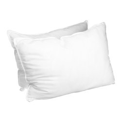 "Pillows (Set of 2) - Standard, Down Alternative 20"" x 28"" - These Down Alternative Pillows are filled with our high quality microfiber, which is designed to resemble down filling. These pillows offer the same comfort and the satisfaction that authentic down pillows are known for. Luxurious, hypoallergenic and affordable!"