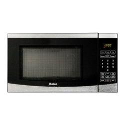 Haier - Haier 0.7 Cu. Ft. 700 Watt Microwave - Easily heat your food just the way you want it with this convenient 700-watt microwave. Use it quickly with its one if its six one-touch cooking programs or its auto defrost button,or set multiple time and power settings within a single cycle.