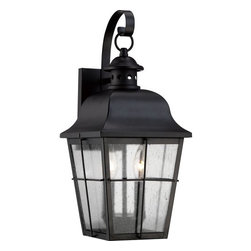 Quoizel - Quoizel MHE8409 Millhouse 2 Light Outdoor Wall Sconce with Clear Seedy Glass - Features: