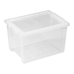 Ecr4kids - Ecr4Kids Large Storage Tub -Tote Bin With Lids Pack Of 20 - Clear - Extra-deep, large storage bin that measures 8.25 high, includes lid.Extra-deep, large storage bin that measures 8.25 higH Includes clear, detachable lid. For use with trolley and classroom storage units.NoteColors may vary and are subject to change without notice. Accessories not included unless noted. Adult Supervision Recommended.
