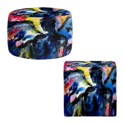 DiaNoche Designs - Ottoman Foot Stool by Kathy Stanion - Angel III - Lightweight, artistic, bean bag style Ottomans. You now have a unique place to rest your legs or tush after a long day, on this firm, artistic furtniture!  Artist print on all sides. Dye Sublimation printing adheres the ink to the material for long life and durability.  Machine Washable on cold.  Product may vary slightly from image.