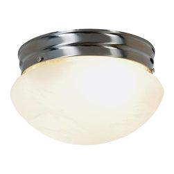 Premier - Two Light Incandescent 9 inch Flush Mount - Brushed Nickel - AF Lighting 617595 9-1/2in. W by 5-1/4in. H Incandescent Lighting Collection Flush Mount 2-Light, Brushed Nickel.