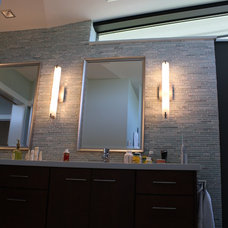 Contemporary Bathroom Vanity Lighting Lake Washington Residence
