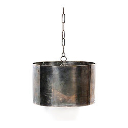 Industrial Steel Drum Pendant - This industrial pendant just has so much character - the metal really has a certain depth of color which is wonderful to bring into a design. I'd love to see what this would look like turned on.