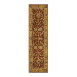 Safavieh - Safavieh Handmade Heritage Rust/ Beige Wool Rug (2'3 x 6') - Give your home an Asian-inspired makeover,starting with this beautiful handmade Oriental rug. The thick wool pile is sure to be comfortable underfoot,and the stunning floral pattern and array of colors will add an exoticism and style to any room.