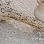 Bloom Stone Mosaic - Bloom in 1.5cm polished Driftwood, Socorro Grey, and Bianco Antico