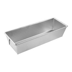 "Frieling - Loaf Pan, 12"", Tin Plated - Sturdy tin-plated steel. Waffle textured bottom promotes easy release when greased. Max temp 450 degrees F. Dishwasher safe."