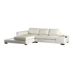 Vig Furniture T35 Mini White Bonded Leather Sectional