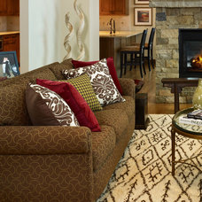 Transitional Upholstery Fabric by Perspectives Interior Design & Remodeling, Inc.
