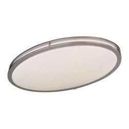Minka-Lavery - Minka-Lavery Energy Efficient 2-Light Flush Mount - This 2-Light Bowl Flush Mount has a nickel finish.