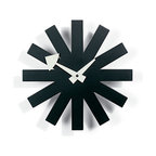Nelson Asterisk Clock - White clock hands stand out against the black starburst pattern of this clock, making it easy to stay on schedule.
