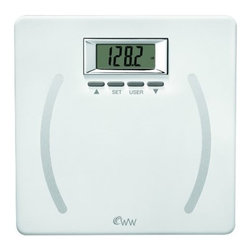 CONAIR - Conair WW28 Weight Watchers Plastic Body Fat Scale - 350lb capacity in .2lb increments