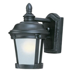 Maxim Lighting - Bronze / Frosted Seedy Glass Dover EE 1 Light Outdoor Wall Sconce - Product