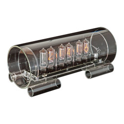 Cold War Creations - Large Glass Nixie Clock IN8-2 - Large Glass Clock #3 IN-8-2 - special version of the Large size Glass Nixie clock.
