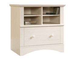 Sauder - Sauder Harbor View 1-Drawer Lateral Wood File Cabinet in Antique White - Sauder - Filing Cabinets - 158002