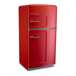Big Chill - Big Chill Original 20.9 cu. ft. Top-Freezer Refrigerator - Cherry Red - The Big Chill Original Fridge in Cherry Red has the retro style you want with the modern amenities you need. The look of this red fridge may be straight out of the 50s, but with its energy star rating, spacious 20.9 cu ft. interior, frostless temperature management, and a durable design that resists chips and dent, it is a Modern Made Classic. This Cherry Red fridge adds retro style, and modern functionality to any kitchen decor.