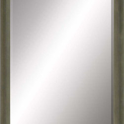 Paragon Decor - Beveled Mirror, Olive Green Wood, 30x40 - Mirror, Mirror, on the wall, who's the most beautiful mirror of them all? Reflect your impeccable taste with this contemporary-style mirror, which features a gorgeous simple olive green wood frame and high-quality interior beveled mirror. This piece measures 35 inches wide, 2 inches deep, and 45 inches high.