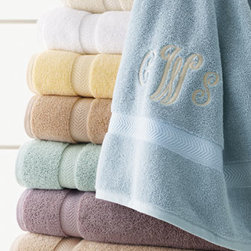 Charisma - Charisma Classic Hand Towel, Monogrammed - We're offering special pricing and optional monogramming on Charisma's new Egyptian cotton spa towels with Chevron dobby in the classic Charisma look. The towels boast an exceptional feel and weight and are available in an array of fabulous colors. List...