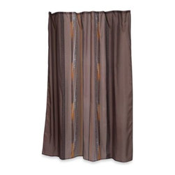 Carnation Home Fashions, Inc. - Home Fashions Catherine Shower Curtain - Bring out your wild side with this exotic-looking Home Fashions Catherine shower curtain. It features whimsical, elegantly unequal brushes of animal patterns on a background of rich, luscious gray-brown.