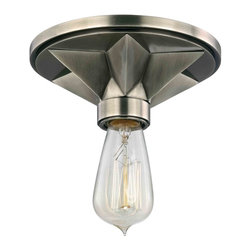 Hudson Valley Lighting - Hudson Valley Lighting 4080-AS Bethesda Aged Silver Semi-Flush Mount - Hudson Valley Lighting 4080-AGB Bethesda Aged Brass Semi-Flush Mount