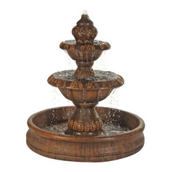 Oak Fountain with 55 inch Basin, Country Oak - The Oak Fountain will bring out the best out of your home scenery. It's nature inspired and it will create a more peaceful ambiance. It will surely be a piece of art that everyone will adore.