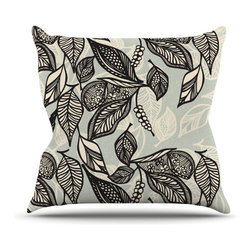 """Kess InHouse - Gill Eggleston """"Java Leaf"""" Throw Pillow (Outdoor, 16"""" x 16"""") - Decorate your backyard, patio or even take it on a picnic with the Kess Inhouse outdoor throw pillow! Complete your backyard by adding unique artwork, patterns, illustrations and colors! Be the envy of your neighbors and friends with this long lasting outdoor artistic and innovative pillow. These pillows are printed on both sides for added pizzazz!"""